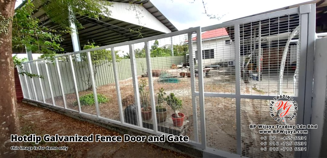 BP Wijaya Security Fence Manufacturer Malaysia Hotdip Galvanized Fence Door and Fence Gate Security Fence Kuala Lumpur Pahang Johor Fence Malaysia A07