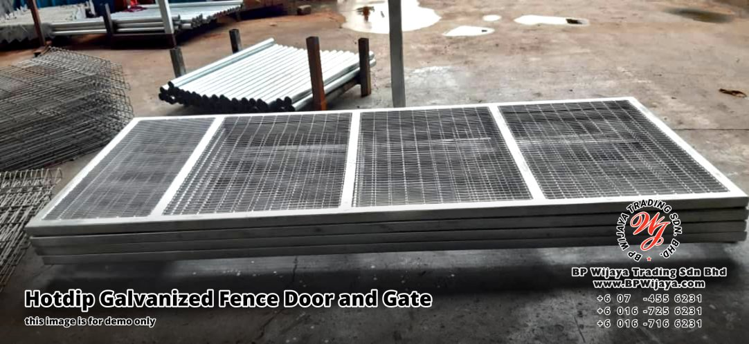 BP Wijaya Security Fence Manufacturer Malaysia Hotdip Galvanized Fence Door and Fence Gate Security Fence Kuala Lumpur Pahang Johor Fence Malaysia A08