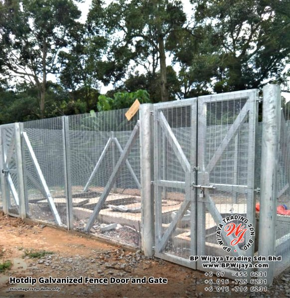 BP Wijaya Security Fence Manufacturer Malaysia Hotdip Galvanized Fence Door and Fence Gate Security Fence Kuala Lumpur Pahang Johor Fence Malaysia A18