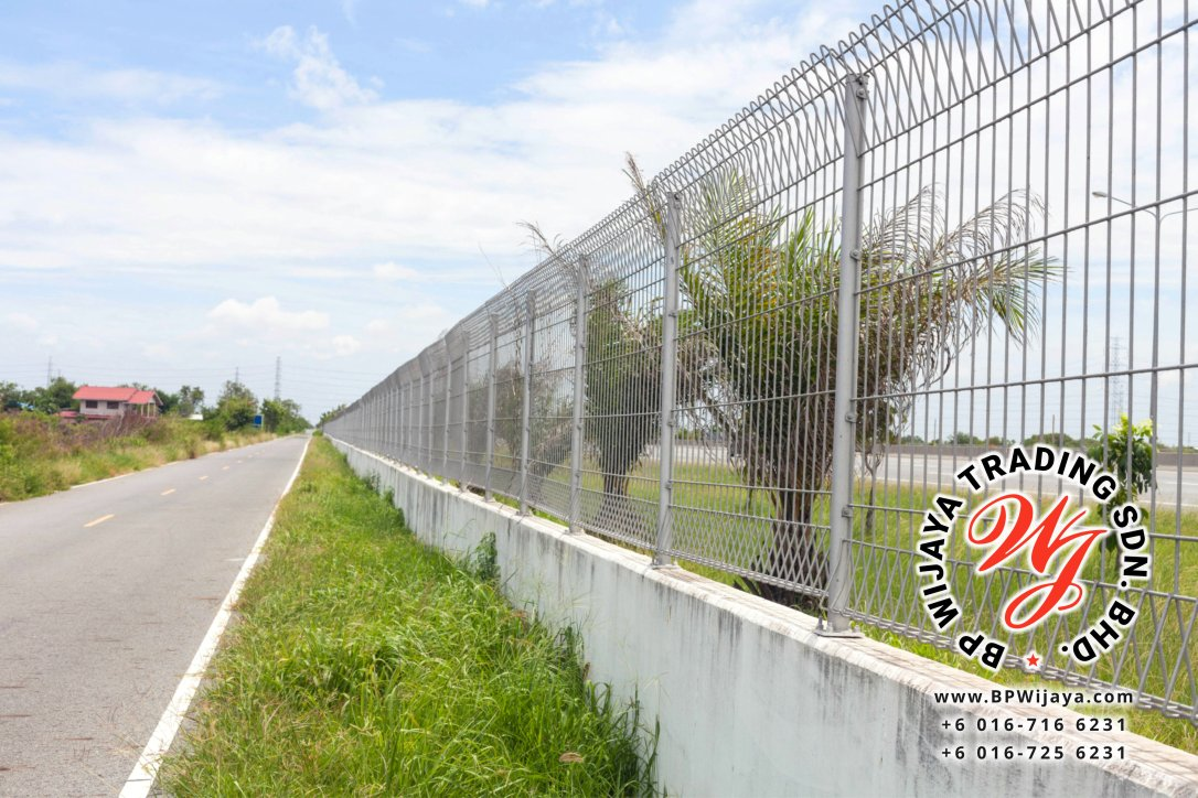14216980 - steel fence along the road