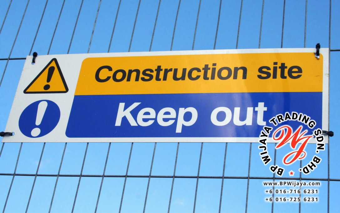 482170 - construction site keep out sign