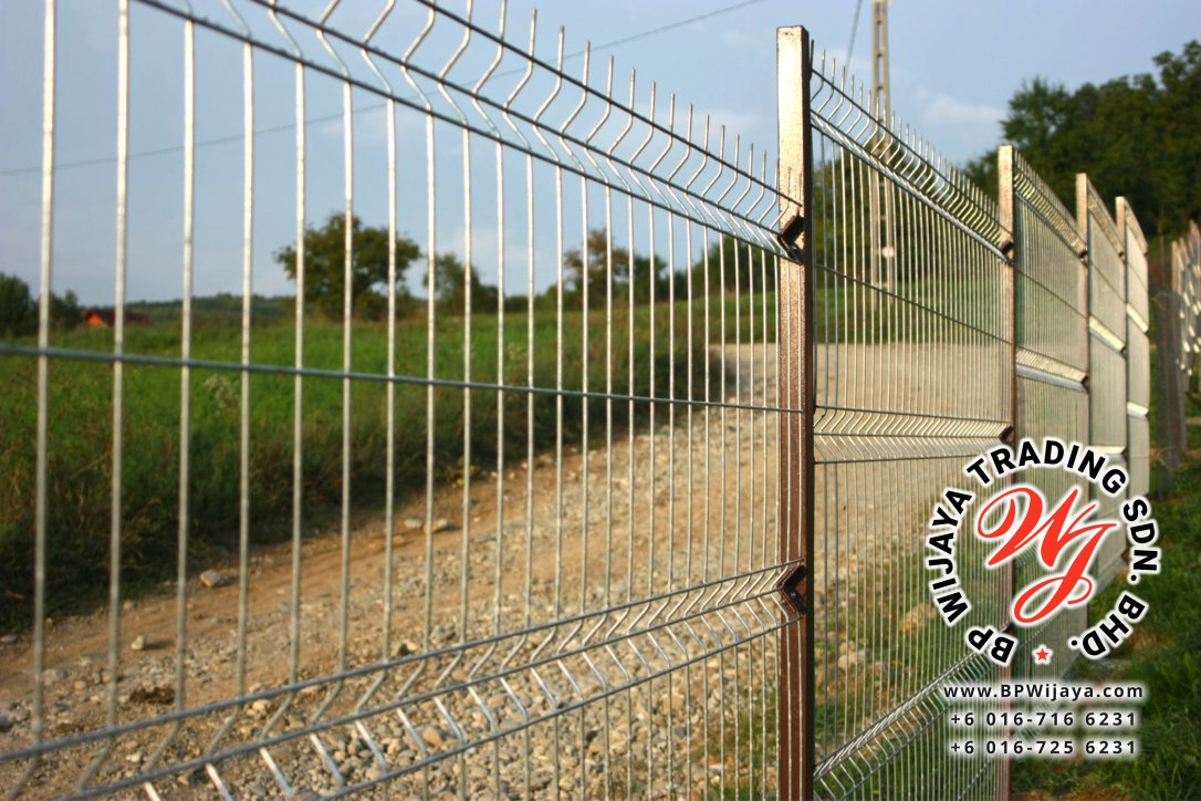 Welded wire fence.