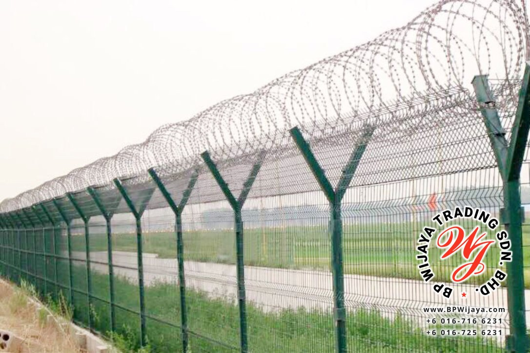 BP Wijaya Trading Sdn Bhd Malaysia manufacturer Distributor safety fences building materials Anti Climb Fence Galvanized Razor Barbed Wire from Johor Batu Pahat B01
