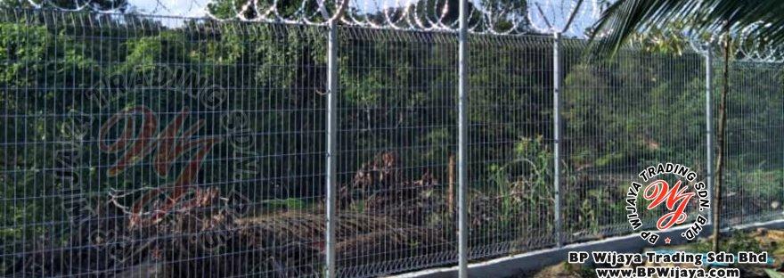 bp wijaya trading sdn bhd security fence project ulu tiram johor malaysia galvanized fence and galvanized razor barbed wire a000