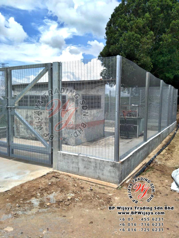 bp wijaya trading sdn bhd security fence project yong peng johor malaysia hotdip galvanized anti climb fence and hotdip anti climb fence gate a001