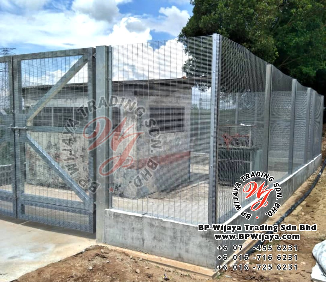 bp wijaya trading sdn bhd security fence project yong peng johor malaysia hotdip galvanized anti climb fence and hotdip anti climb fence gate a002