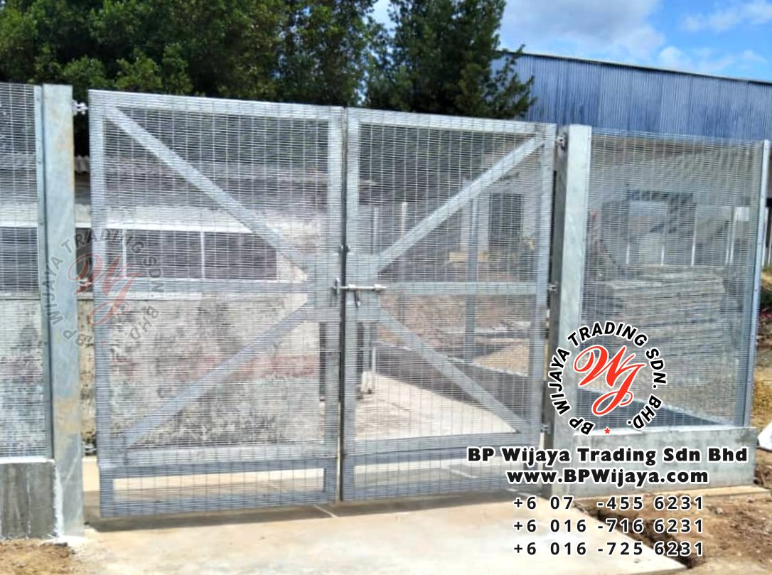 bp wijaya trading sdn bhd security fence project yong peng johor malaysia hotdip galvanized anti climb fence and hotdip anti climb fence gate a004