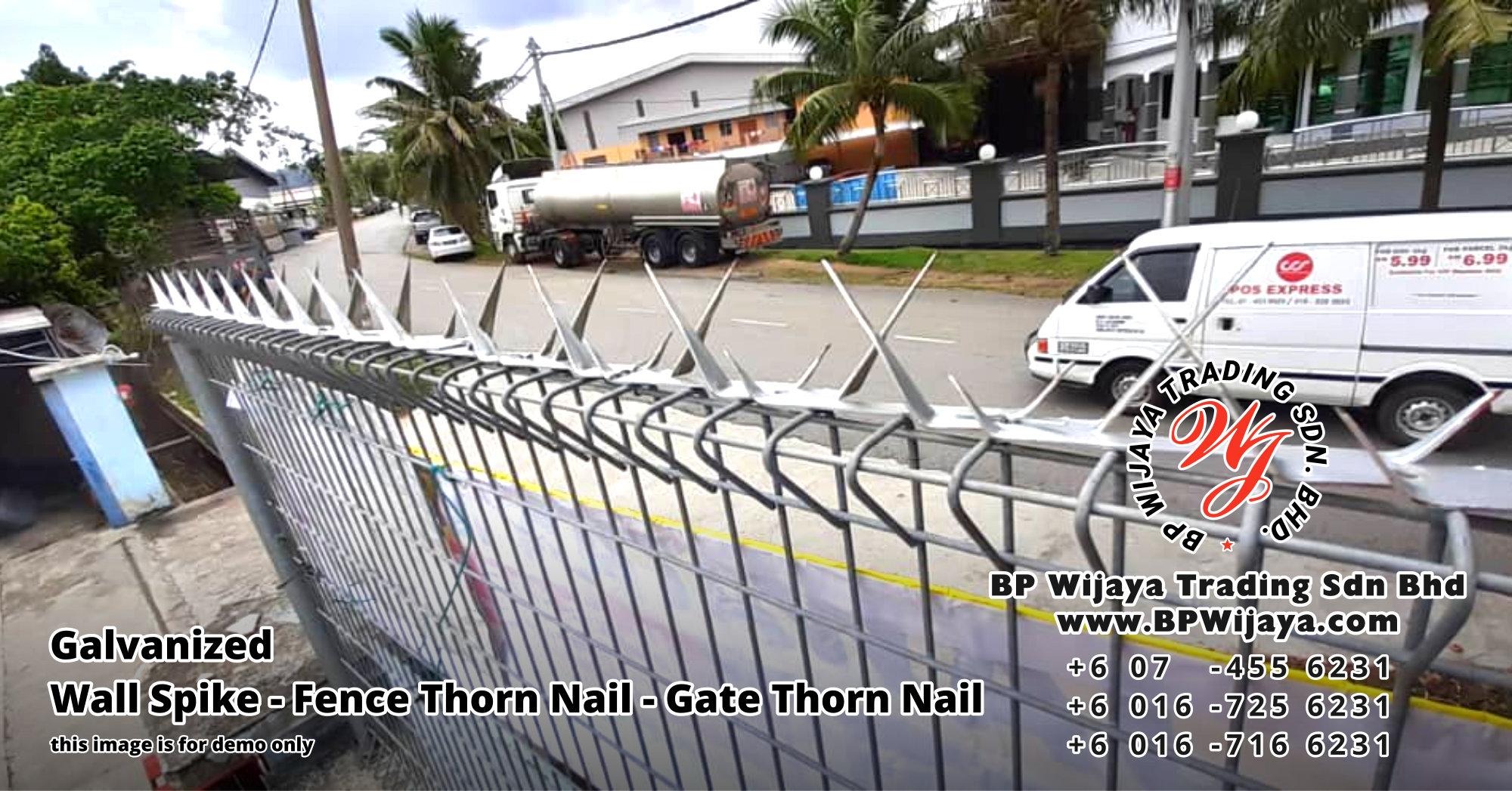 BP Wijaya Security Fence Manufacturer Malaysia Galvanized Wall Spike Fence Thorn Nail Gate Thorn Nail Security Fence Kuala Lumpur Pahang Johor Fence Malaysia A00