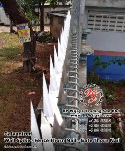 BP Wijaya Security Fence Manufacturer Malaysia Galvanized Wall Spike Fence Thorn Nail Gate Thorn Nail Security Fence Kuala Lumpur Pahang Johor Fence Malaysia A05
