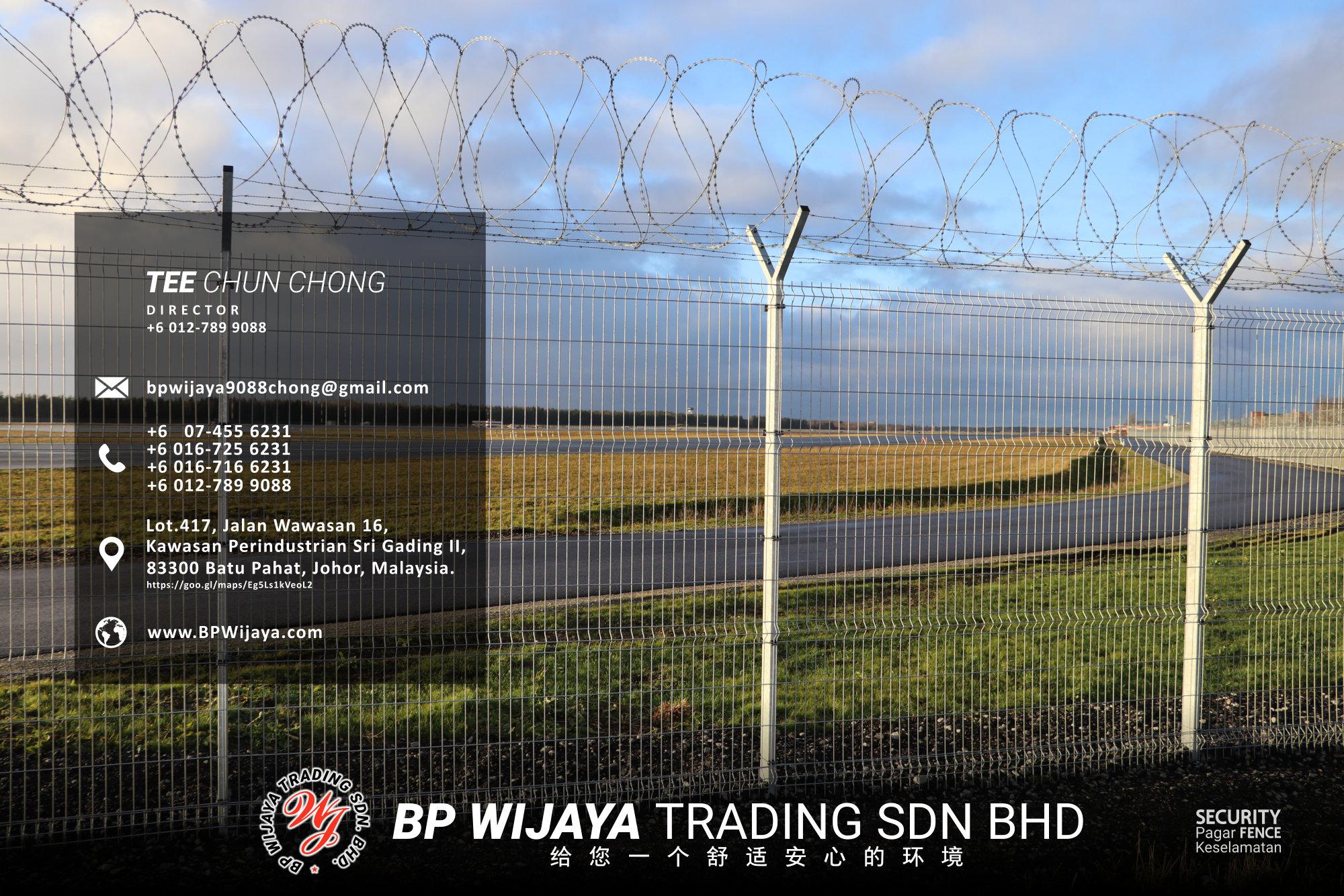 吉隆坡安全篱笆供应商 - 我们是安全篱笆制造商 BP Wijaya Trading Sdn Bhd 住家围栏篱笆 提供 吉隆坡篱笆 建筑材料 给 发展商 花园 公寓 住家 工厂 农场 果园 安全藩篱 建设 A03-015