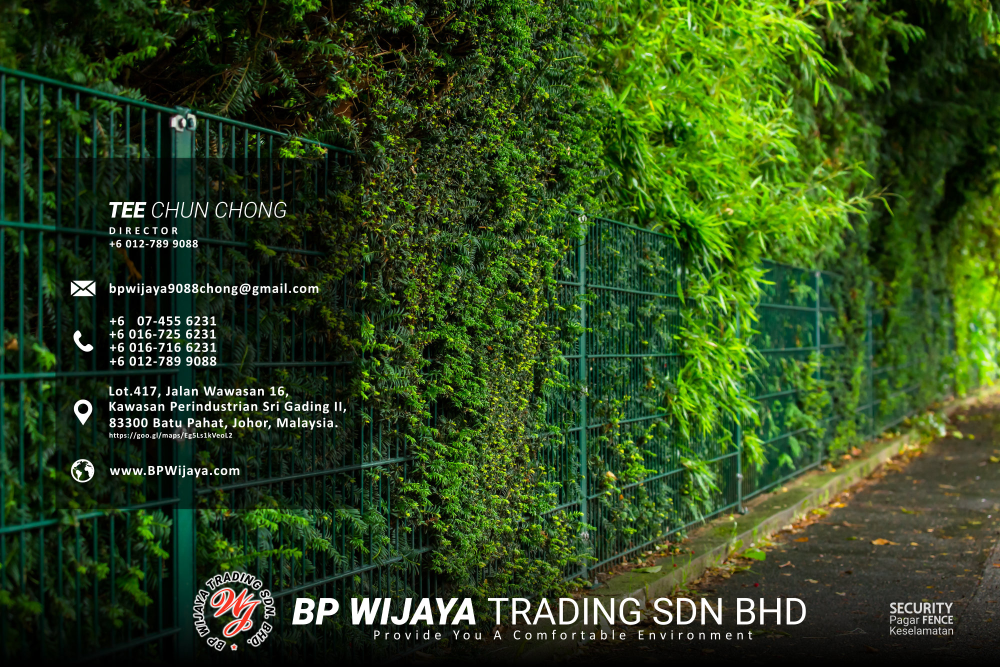 Kuala Lumpur Security Fence Supply we are manufacturer of security fence BP Wijaya Trading Sdn Bhd Safety Fence Building Materials for Housing Construction factory fence house beauty fence A03-012