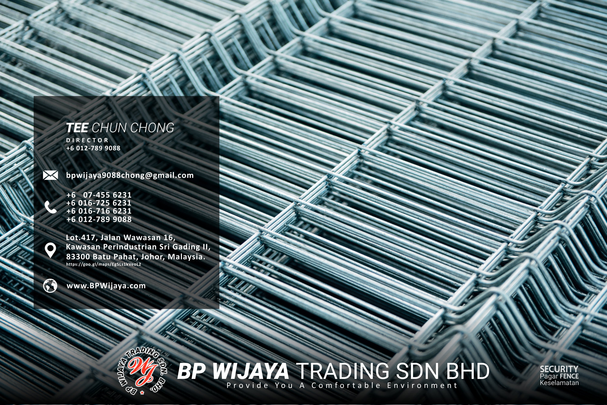 Kuala Lumpur Security Fence Supply we are manufacturer of security fence BP Wijaya Trading Sdn Bhd Safety Fence Building Materials for Housing Construction factory fence house beauty fence A03-013