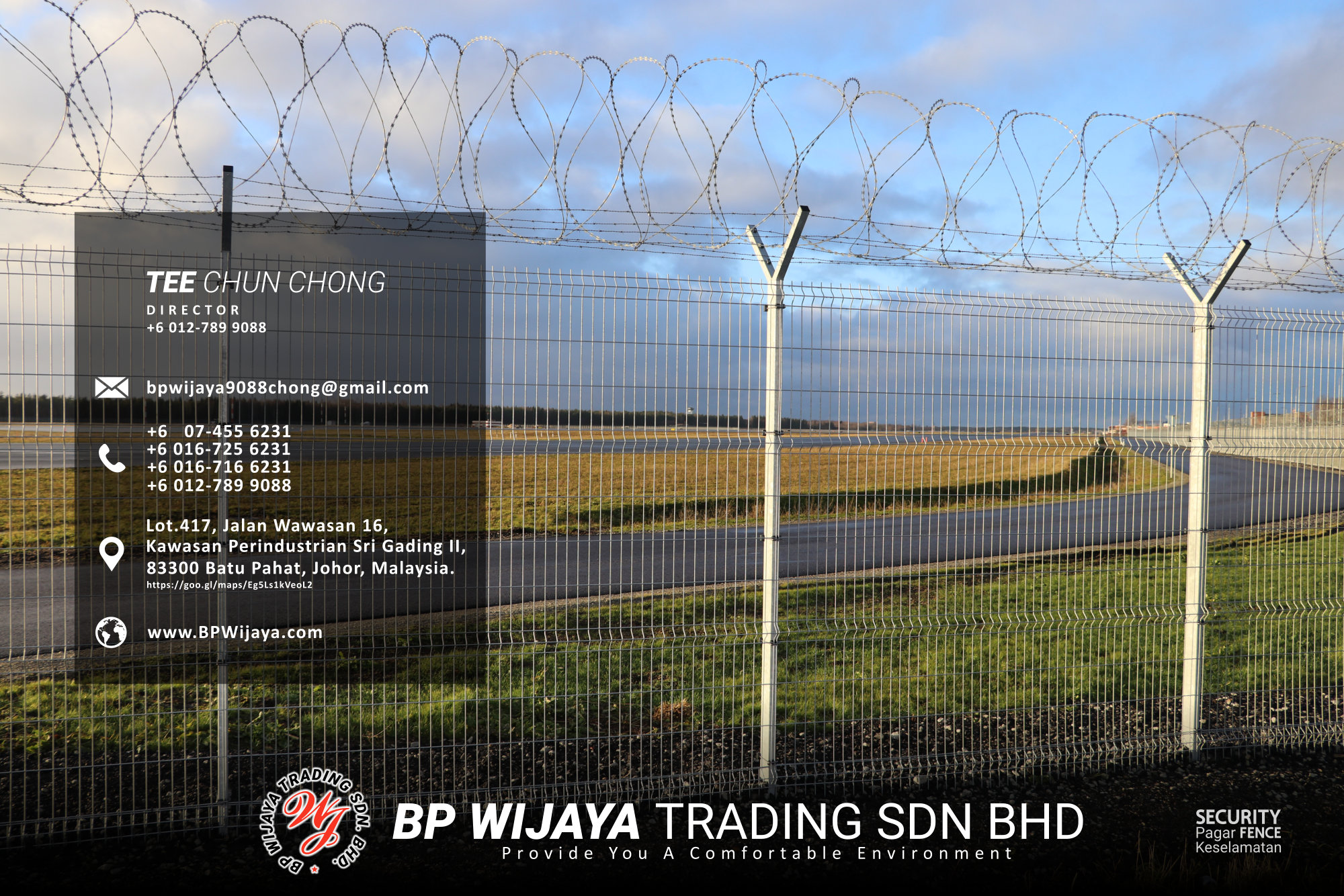 Kuala Lumpur Security Fence Supply we are manufacturer of security fence BP Wijaya Trading Sdn Bhd Safety Fence Building Materials for Housing Construction factory fence house beauty fence A03-015