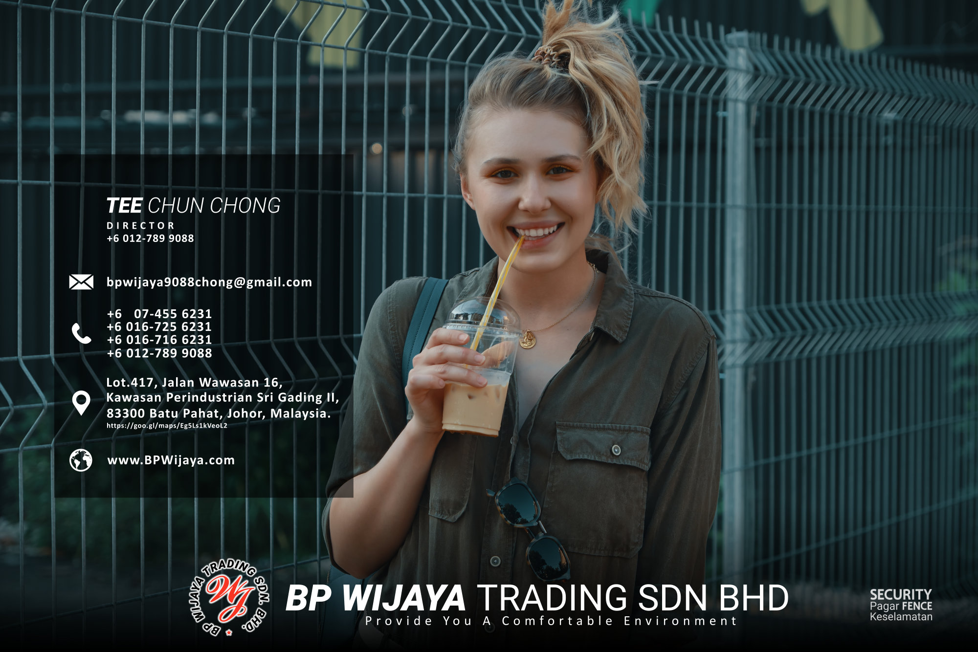 Kuala Lumpur Security Fence Supply we are manufacturer of security fence BP Wijaya Trading Sdn Bhd Safety Fence Building Materials for Housing Construction factory fence house beauty fence A03-016