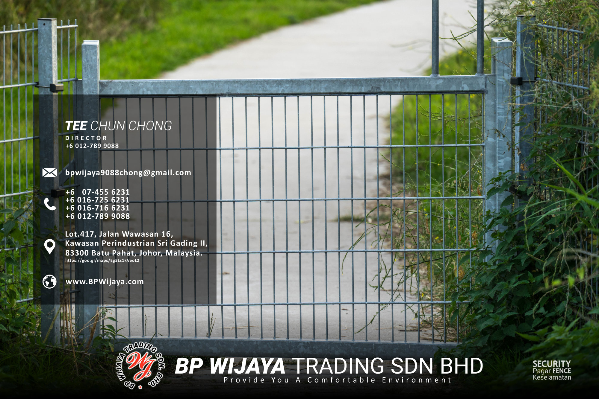 Kuala Lumpur Security Fence Supply we are manufacturer of security fence BP Wijaya Trading Sdn Bhd Safety Fence Building Materials for Housing Construction factory fence house beauty fence A03-017