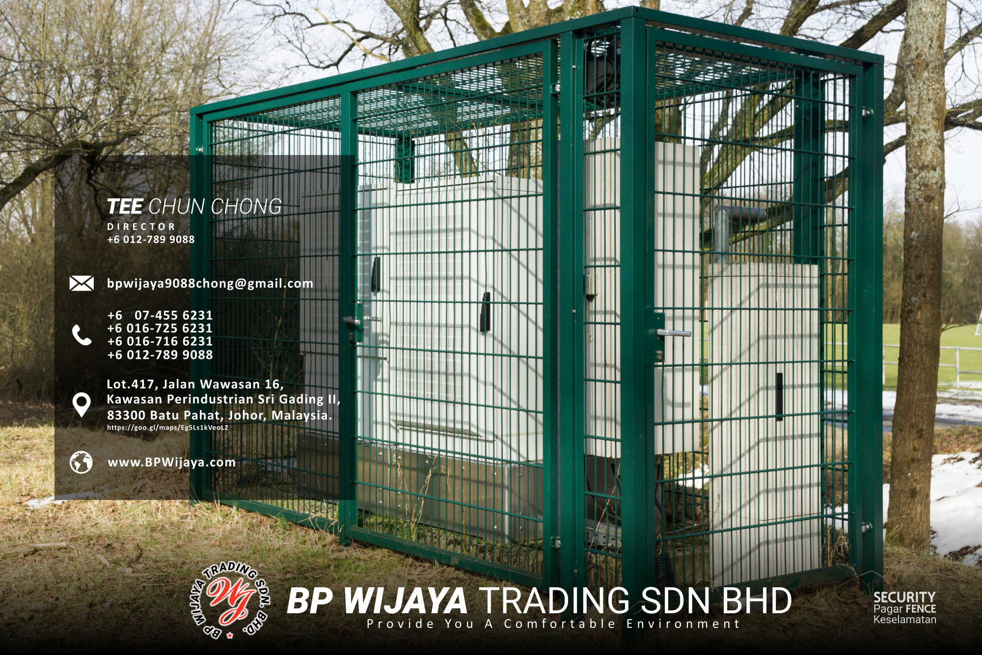 Kuala Lumpur Security Fence Supply we are manufacturer of security fence BP Wijaya Trading Sdn Bhd Safety Fence Building Materials for Housing Construction factory fence house beauty fence A03-018