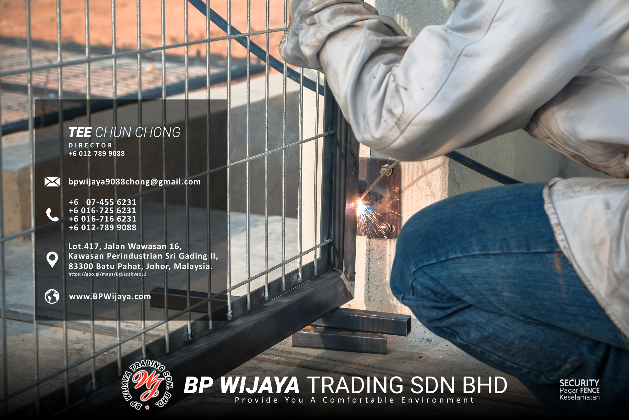 Kuala Lumpur Security Fence Supply we are manufacturer of security fence BP Wijaya Trading Sdn Bhd Safety Fence Building Materials for Housing Construction factory fence house beauty fence A03-019