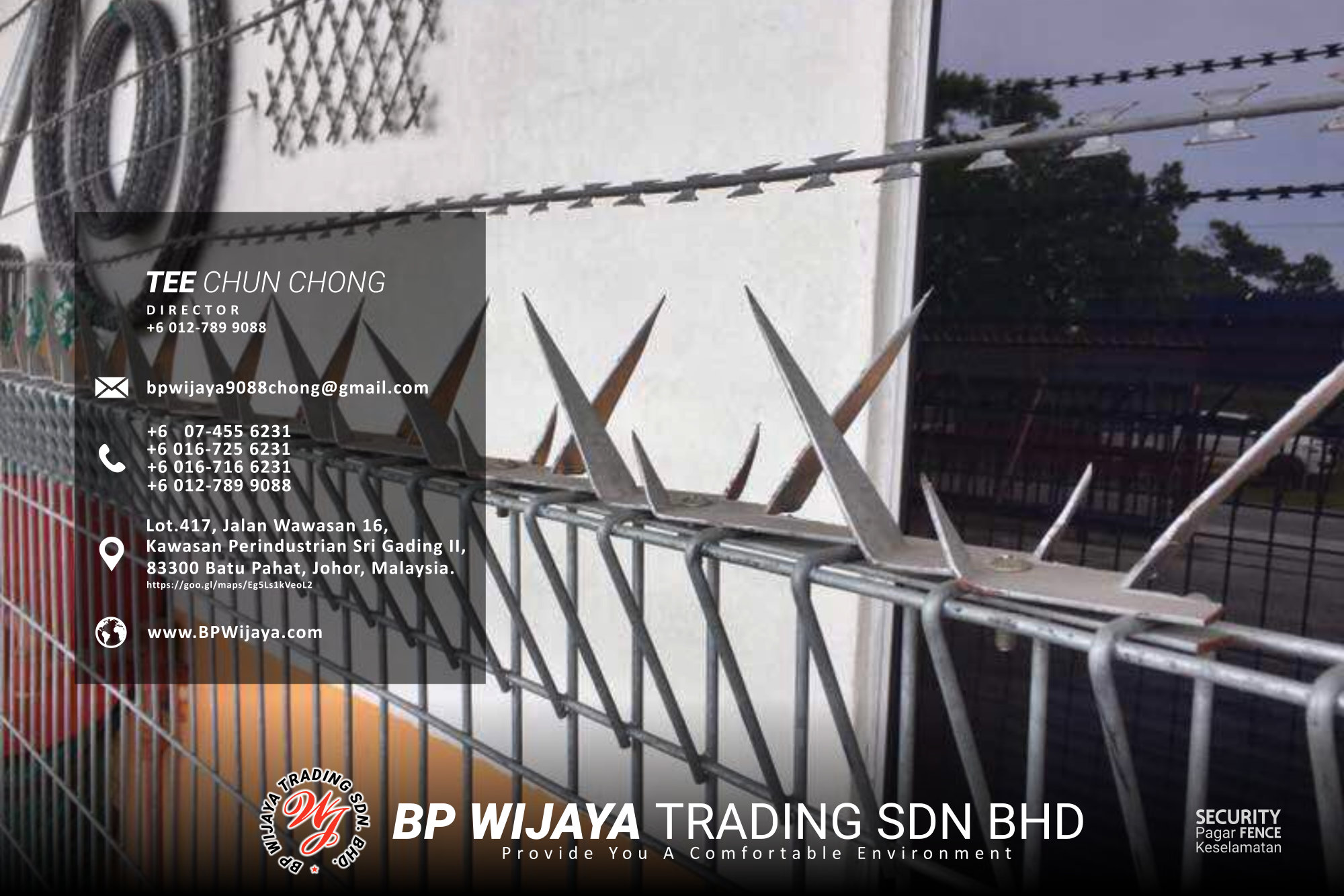 Kuala Lumpur Security Fence Supply we are manufacturer of security fence BP Wijaya Trading Sdn Bhd Safety Fence Building Materials for Housing Construction factory fence house beauty fence A03-025