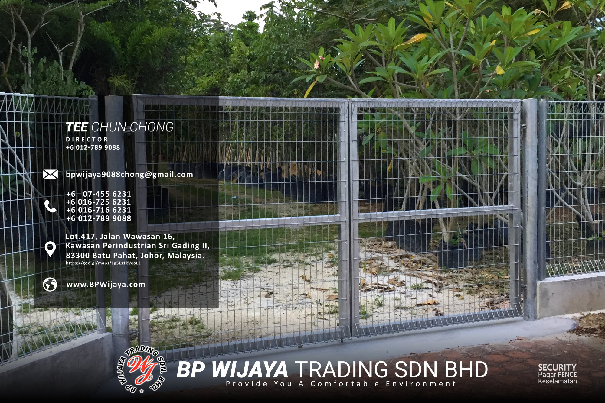 Kuala Lumpur Security Fence Supply we are manufacturer of security fence BP Wijaya Trading Sdn Bhd Safety Fence Building Materials for Housing Construction factory fence house beauty fence A03-026