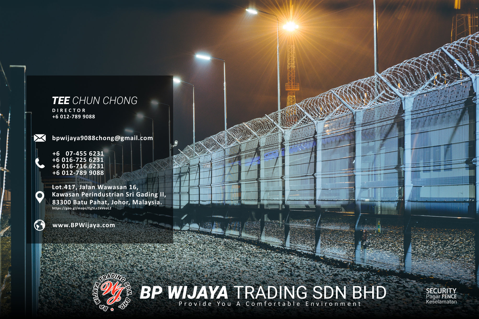 Kuala Lumpur Security Fence Supply we are manufacturer of security fence BP Wijaya Trading Sdn Bhd Safety Fence Building Materials for Housing Construction factory fence house beauty fence A03-029
