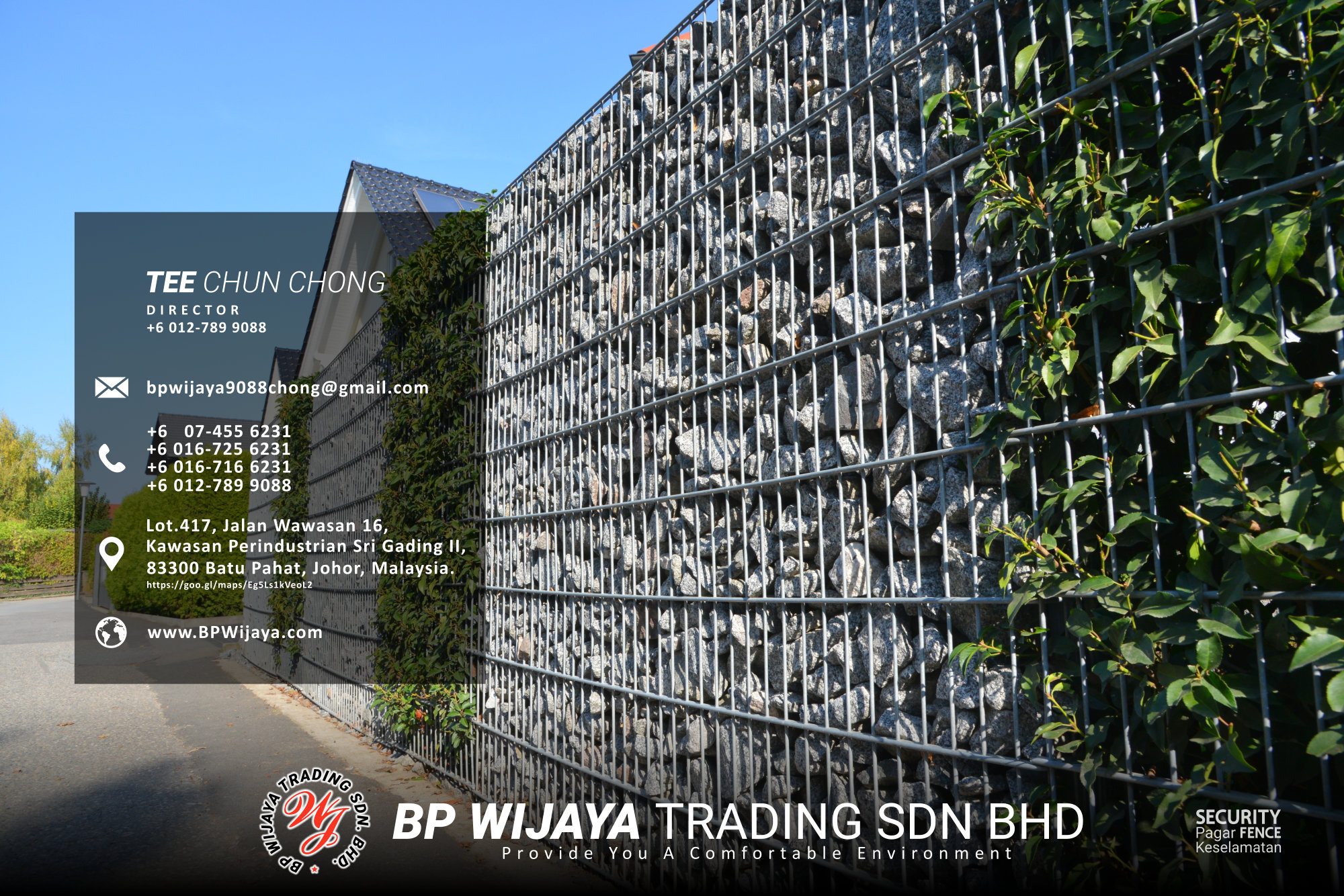Kuala Lumpur Security Fence Supply we are manufacturer of security fence BP Wijaya Trading Sdn Bhd Safety Fence Building Materials for Housing Construction factory fence house beauty fence A03-030