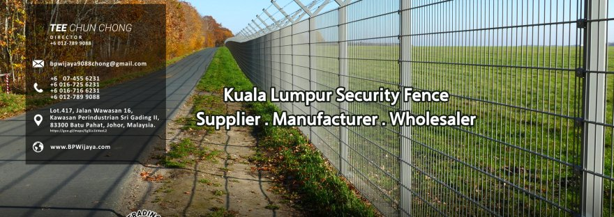 Kuala Lumpur Security Fence Supply we are manufacturer of security fence BP Wijaya Trading Sdn Bhd Safety Fence Building Materials for Housing Construction factory fence house beauty fence A03-000