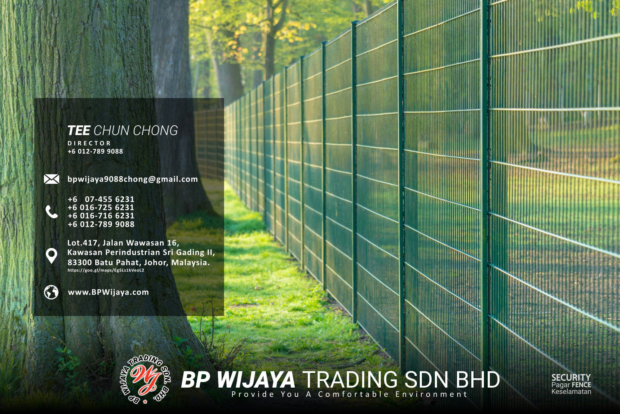 Kuala Lumpur Security Fence Supply we are manufacturer of security fence BP Wijaya Trading Sdn Bhd Safety Fence Building Materials for Housing Construction factory fence house beauty fence A03-006
