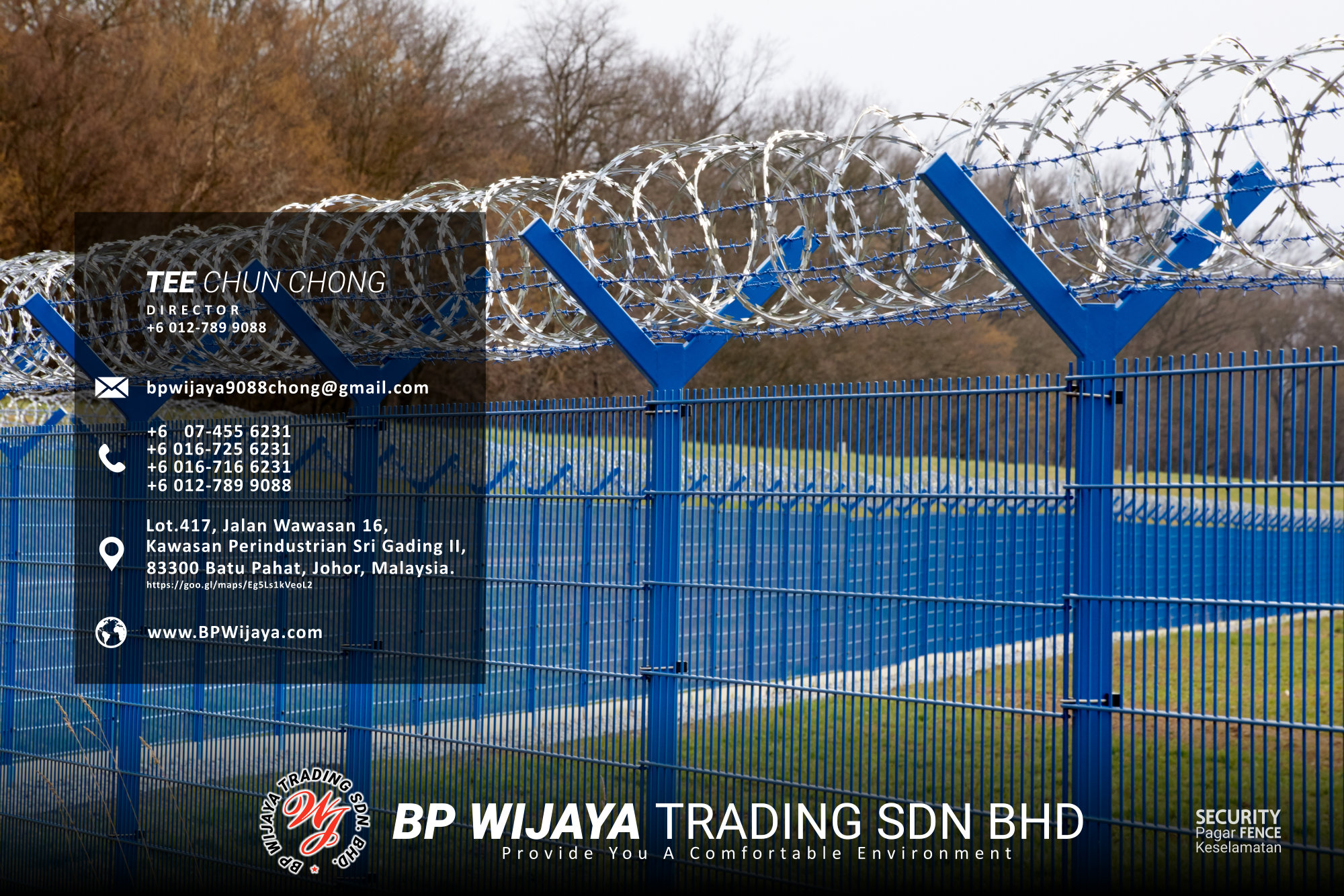 Kuala Lumpur Security Fence Supply we are manufacturer of security fence BP Wijaya Trading Sdn Bhd Safety Fence Building Materials for Housing Construction factory fence house beauty fence A03-009