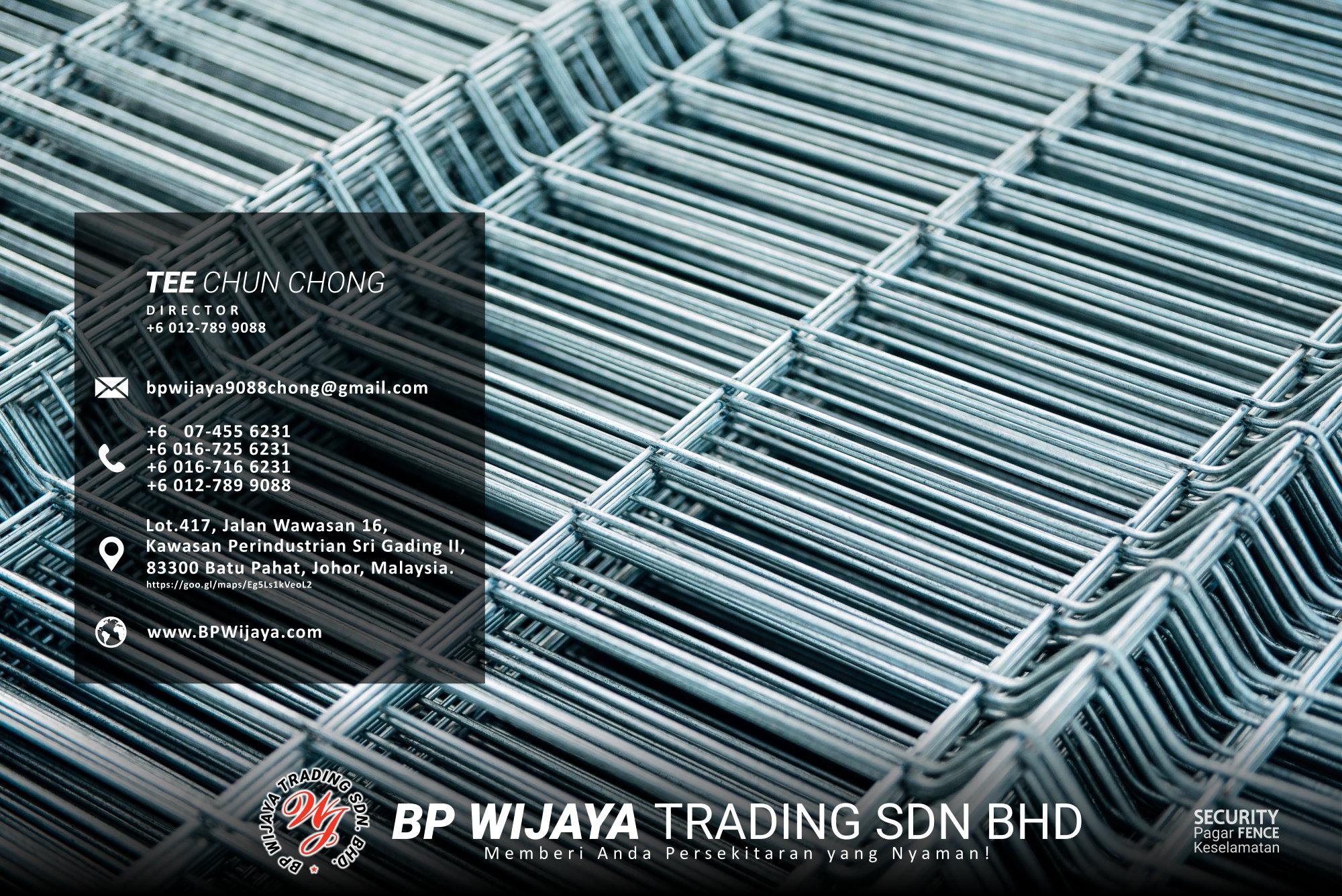 Pembekal Kuala Lumpur Pagar Keselamatan kami merupakan pengilang pagar keselamatan BP Wijaya Trading Sdn Bhd Pagar Taman Pagar Bangunan Pagar Kilang Pagar Rumah Pemborong Pagar Keselamatan A03-013