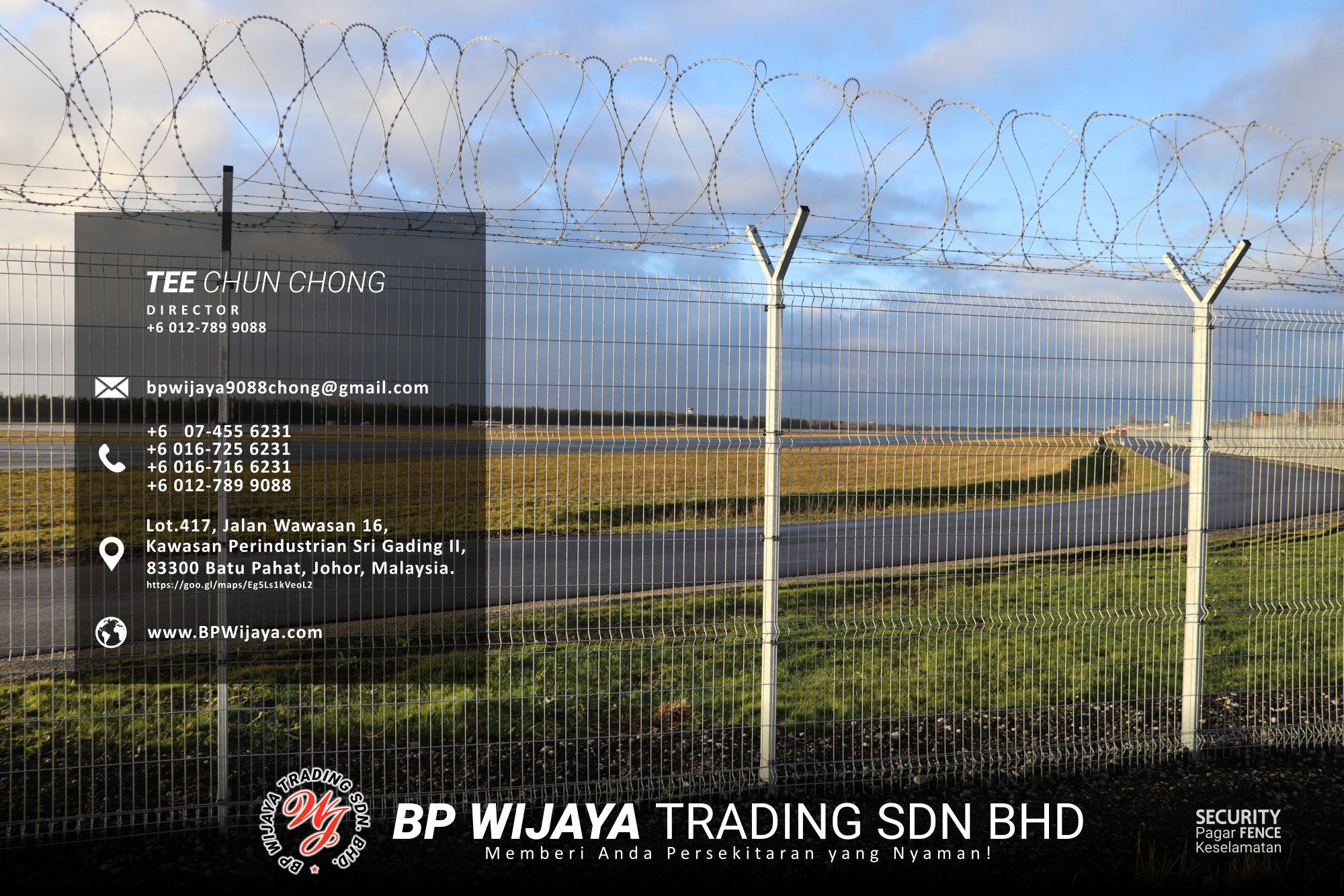 Pembekal Kuala Lumpur Pagar Keselamatan kami merupakan pengilang pagar keselamatan BP Wijaya Trading Sdn Bhd Pagar Taman Pagar Bangunan Pagar Kilang Pagar Rumah Pemborong Pagar Keselamatan A03-015
