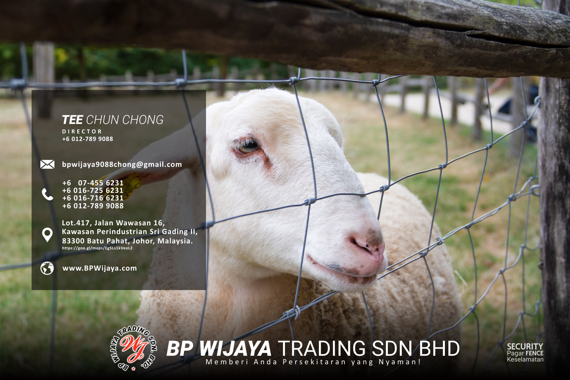 Pembekal Kuala Lumpur Pagar Keselamatan kami merupakan pengilang pagar keselamatan BP Wijaya Trading Sdn Bhd Pagar Taman Pagar Bangunan Pagar Kilang Pagar Rumah Pemborong Pagar Keselamatan A03-021