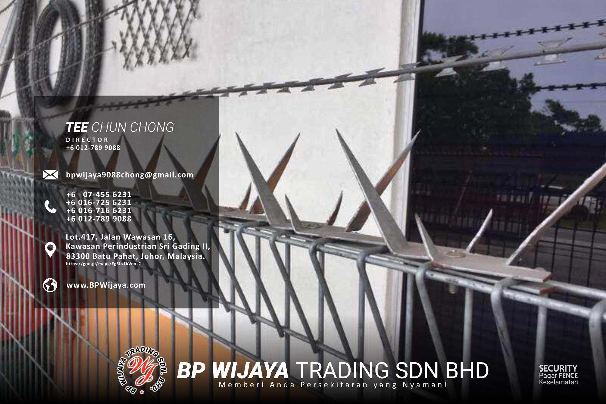 Pembekal Kuala Lumpur Pagar Keselamatan kami merupakan pengilang pagar keselamatan BP Wijaya Trading Sdn Bhd Pagar Taman Pagar Bangunan Pagar Kilang Pagar Rumah Pemborong Pagar Keselamatan A03-025