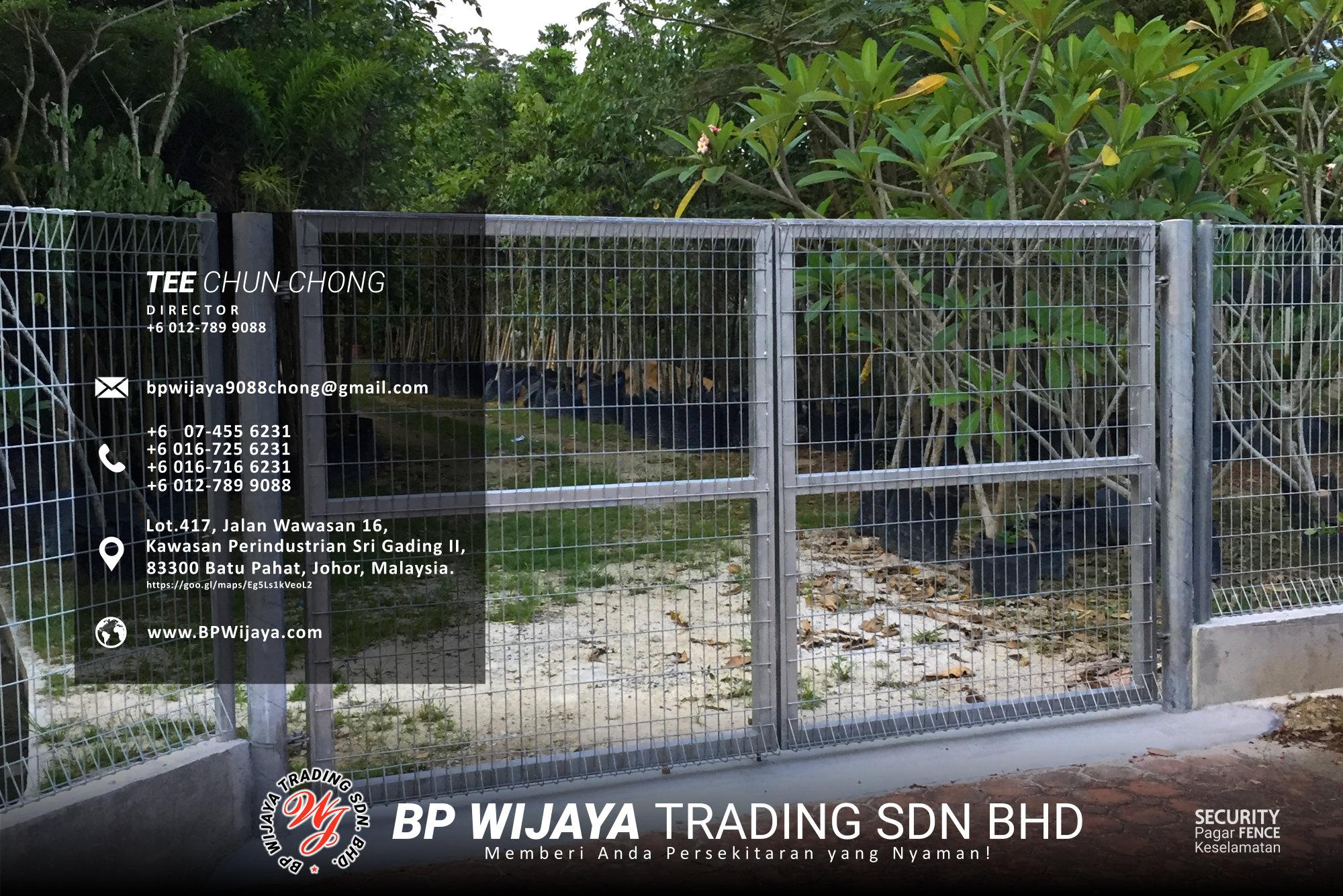 Pembekal Kuala Lumpur Pagar Keselamatan kami merupakan pengilang pagar keselamatan BP Wijaya Trading Sdn Bhd Pagar Taman Pagar Bangunan Pagar Kilang Pagar Rumah Pemborong Pagar Keselamatan A03-026