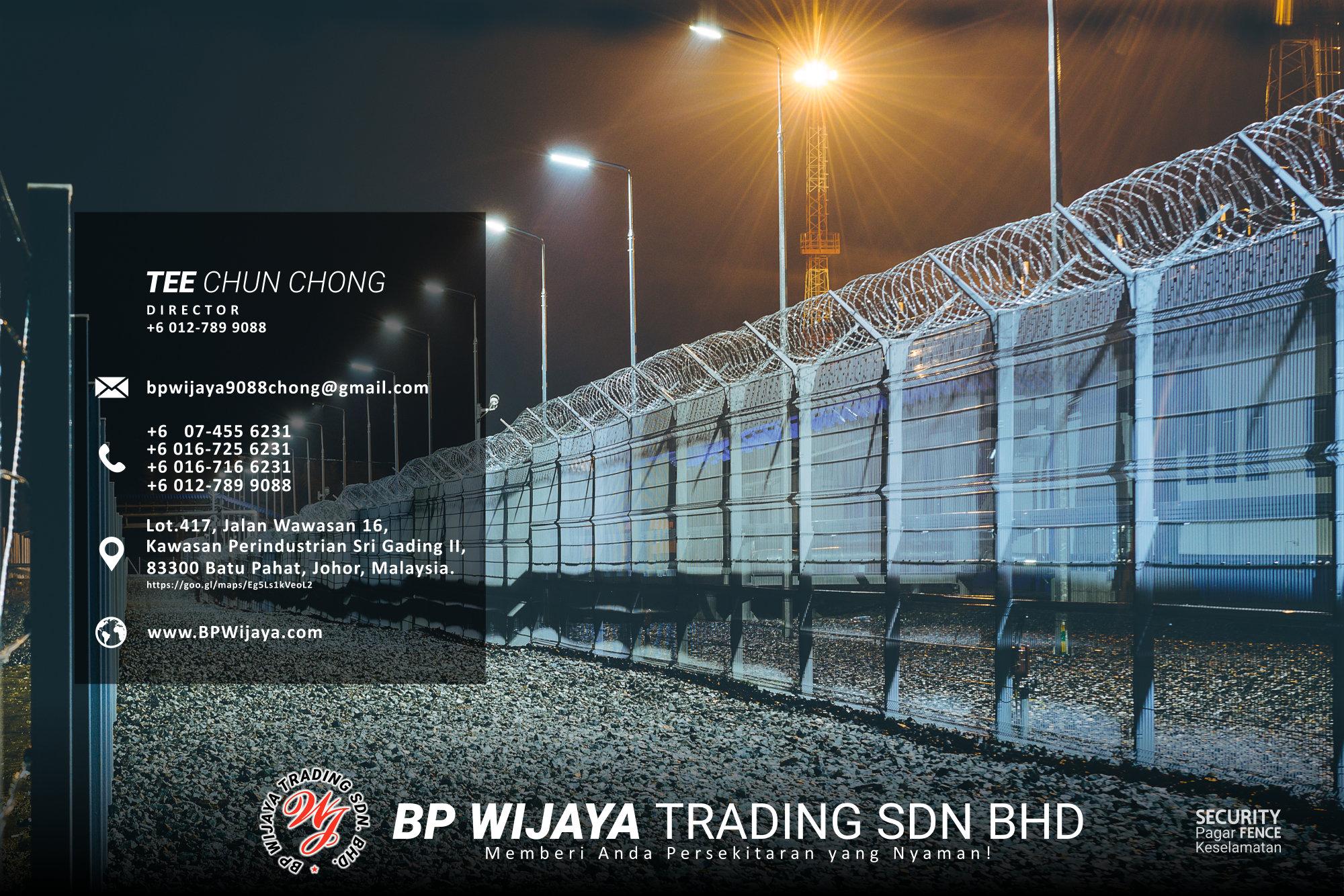 Pembekal Kuala Lumpur Pagar Keselamatan kami merupakan pengilang pagar keselamatan BP Wijaya Trading Sdn Bhd Pagar Taman Pagar Bangunan Pagar Kilang Pagar Rumah Pemborong Pagar Keselamatan A03-029