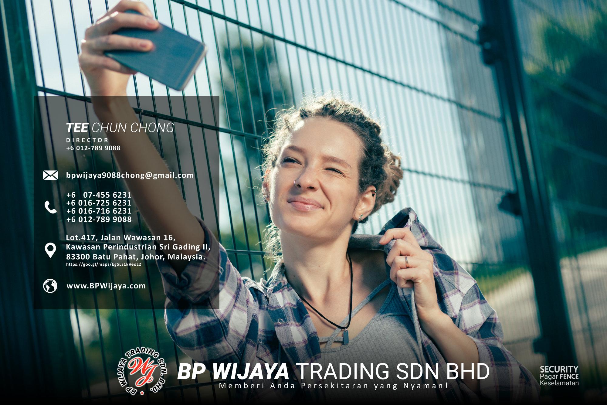 Pembekal Kuala Lumpur Pagar Keselamatan kami merupakan pengilang pagar keselamatan BP Wijaya Trading Sdn Bhd Pagar Taman Pagar Bangunan Pagar Kilang Pagar Rumah Pemborong Pagar Keselamatan A03-004