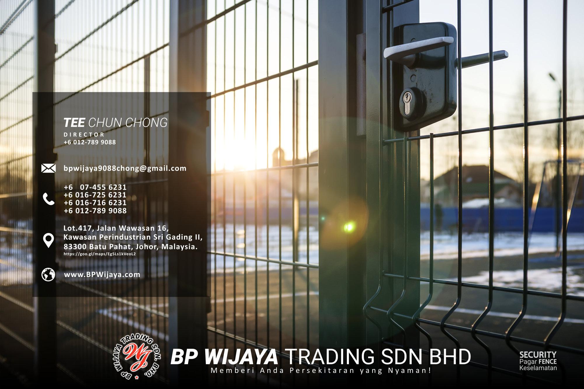 Pembekal Kuala Lumpur Pagar Keselamatan kami merupakan pengilang pagar keselamatan BP Wijaya Trading Sdn Bhd Pagar Taman Pagar Bangunan Pagar Kilang Pagar Rumah Pemborong Pagar Keselamatan A03-005