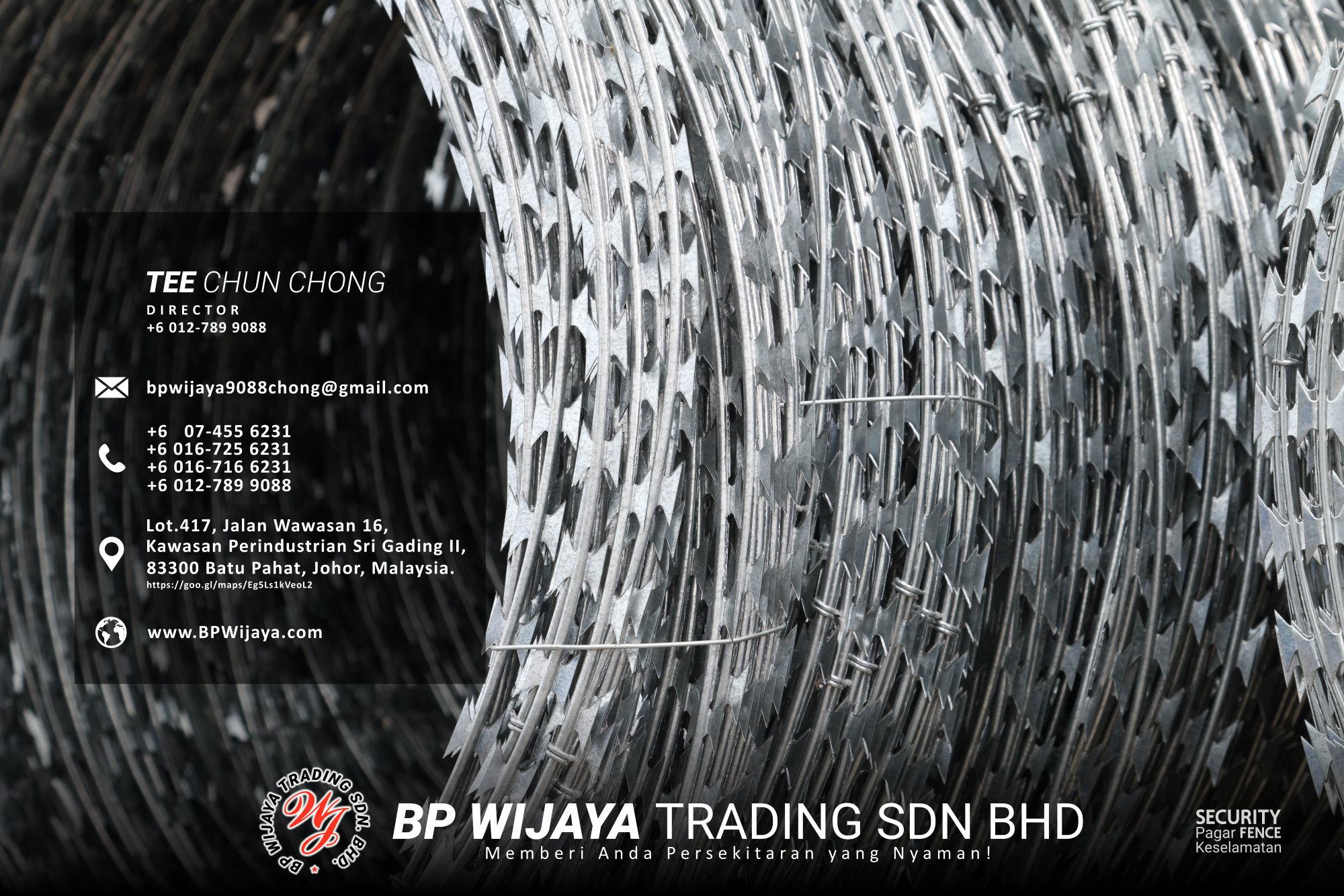 Pembekal Kuala Lumpur Pagar Keselamatan kami merupakan pengilang pagar keselamatan BP Wijaya Trading Sdn Bhd Pagar Taman Pagar Bangunan Pagar Kilang Pagar Rumah Pemborong Pagar Keselamatan A03-007