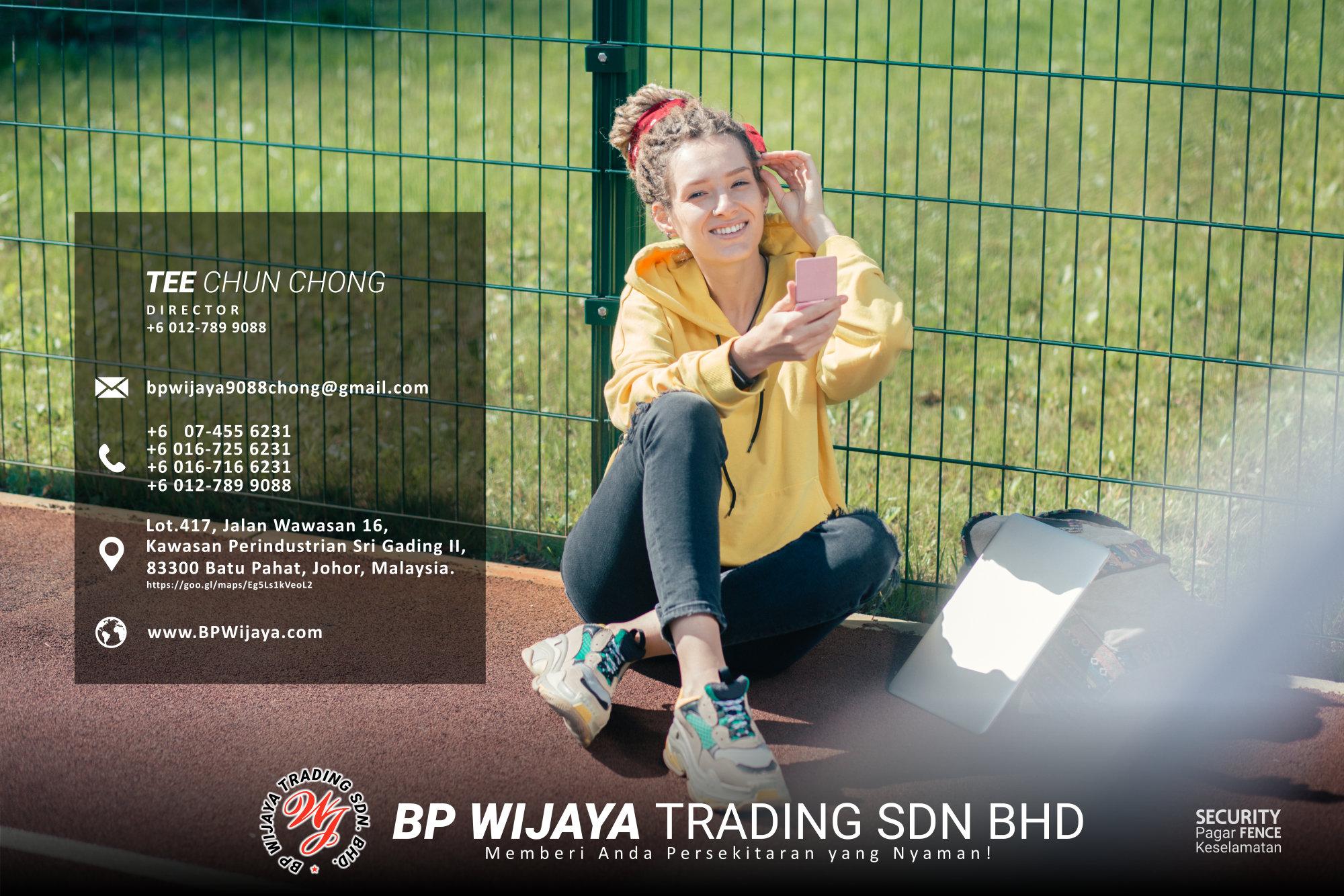 Pembekal Kuala Lumpur Pagar Keselamatan kami merupakan pengilang pagar keselamatan BP Wijaya Trading Sdn Bhd Pagar Taman Pagar Bangunan Pagar Kilang Pagar Rumah Pemborong Pagar Keselamatan A03-008