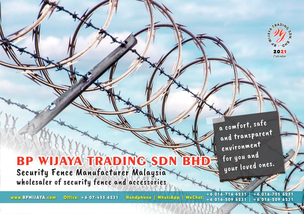Calendar 2021 BP Wijaya Trading Security Fence Manufacturer Malaysia wholesaler of security fence and accessories Malaysia Kuala Lumpur Johor A02