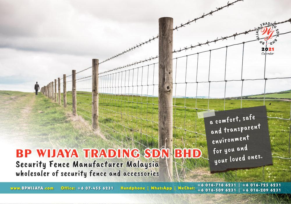 Calendar 2021 BP Wijaya Trading Security Fence Manufacturer Malaysia wholesaler of security fence and accessories Malaysia Kuala Lumpur Johor A03